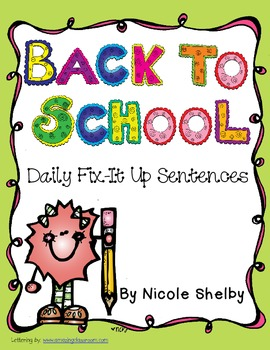 Back to School (August or September) Daily Fix-It Ups