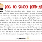 Back to School Bandaid Activity