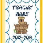 Back to School Bear Binders and Folders for Teachers and S