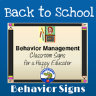 Back to School Behavior Management - Behavior Signs For th