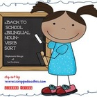 Back to School Bilingual Noun Verb Sort