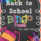 Back to School Bingo FREEBIE!