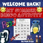Back to School Bingo Interactive Activity