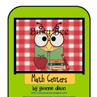 Back to School Busy Bee Math Centers