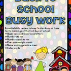 Back to School Busy Work Pack for First Graders