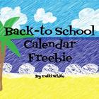 Back-to-School Calendar Freebie