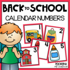 Back to School Calendar Numbers