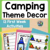 Back to School (Camping Theme) Trekking Into a New Learnin