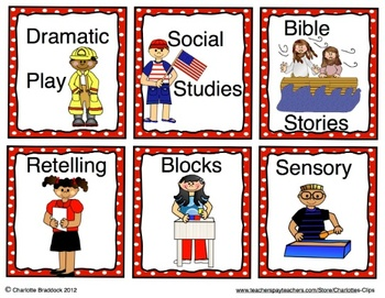 Back to School Center Signs with Matching Pocket Cards for