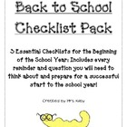 Back to School Checklist Pack for the Organized Teacher