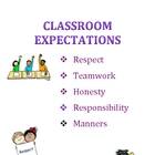 Back to School Classroom Expectations