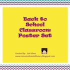 Back to School Classroom Poster Set
