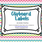 Back to School Clipboard Labels