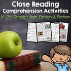 Back to School Close Reading Comprehension Activities