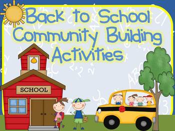 Back to School Community Building Activities