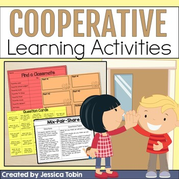 Back to School Cooperative Learning Pack: Robots