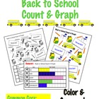 Back to School Count &amp; Graph  - Common Core Measurement &amp; Data