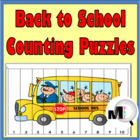 Back to School Counting Puzzles - Set 1