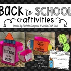 Back to School Craftivities {writing and flip books}