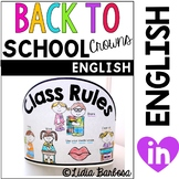 Back to School Crowns { English }