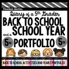 Back to School! Diary of a 5th Grader: My School Year Portfolio