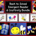 Back to School Emergent Reader &amp; Craftivity Bundle