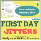 Back to School First Day Jitters Reading Comprehension