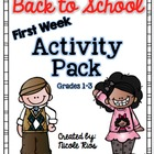 Back to School : First Week Activity Pack