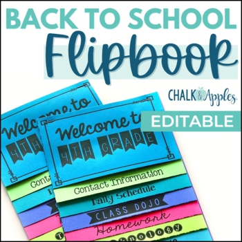 Back to School Flipbook for Parent Night (Editable Flip Book)