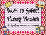Back to School Fluency Phrases (All 6 Levels
