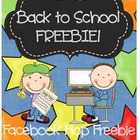 Back to School Freebie
