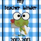 Back to School Frog Binders and Folders for Teachers and S