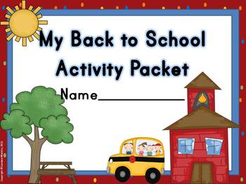 Back to School Fun Activity Pack