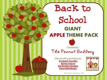 Back to School GIANT Apple Theme Pack