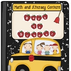 Back to School Get on the Bus Math and Literacy Centers