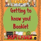 Back to School Getting to Know You Booklet