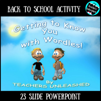 Back to School Getting to Know you with Wordle PowerPoint Lesson