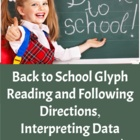Back to School Glyph - Following Directions