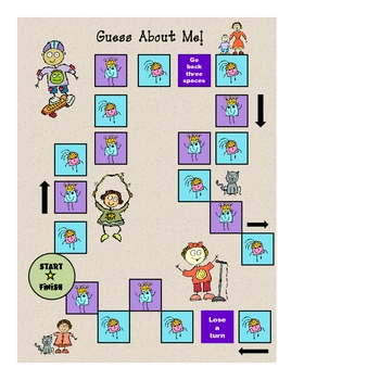 "Back to School ""Guess About Me"" Classroom Game Activity"