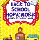 Back to School Homework Pack