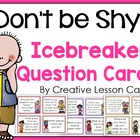 Back to School Icebreaker Activity Cards~Speaking or Writi