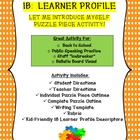 Back to School! Let Me Introduce Myself Puzzle Piece with