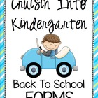 Back to School Kindergarten Forms - Cruisin&#039; Into K