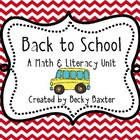 Back to School- Kindergarten Math & Literacy STUFF!