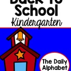 Back to School ~ Kindergarten