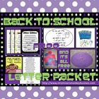 Back to School Letter Packet Freebie