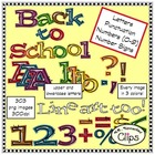 Back to School Letters and Numbers Mega Pack