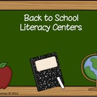 """Back to School"" Literacy Center Fun"