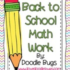 Back to School Math Books