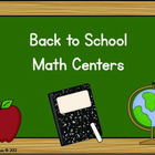 """Back to School"" Math Center Fun"